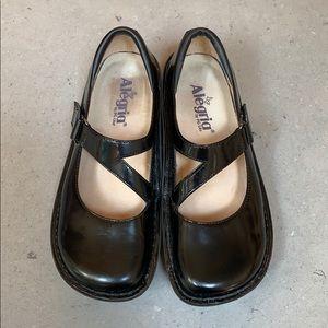 Like NEW Algeria black Mary Jane shoes. Sz 7.